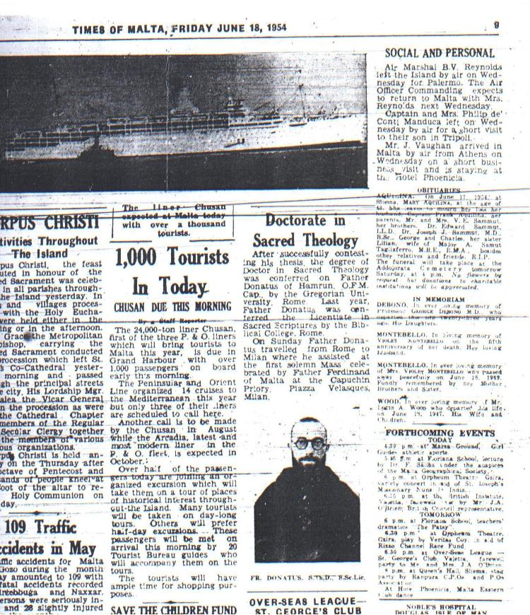 The Times of Malta June 18, 1954